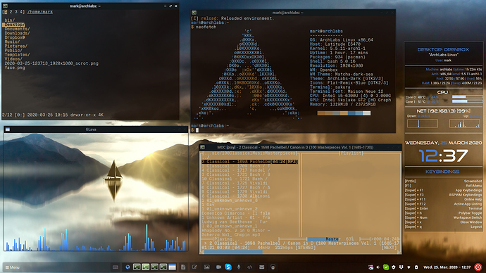 Openbox on ArchLabs
