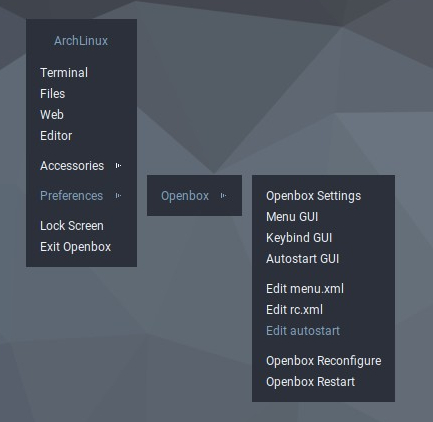 How to disable gaps in cascaded openbox menu? - Basic Help