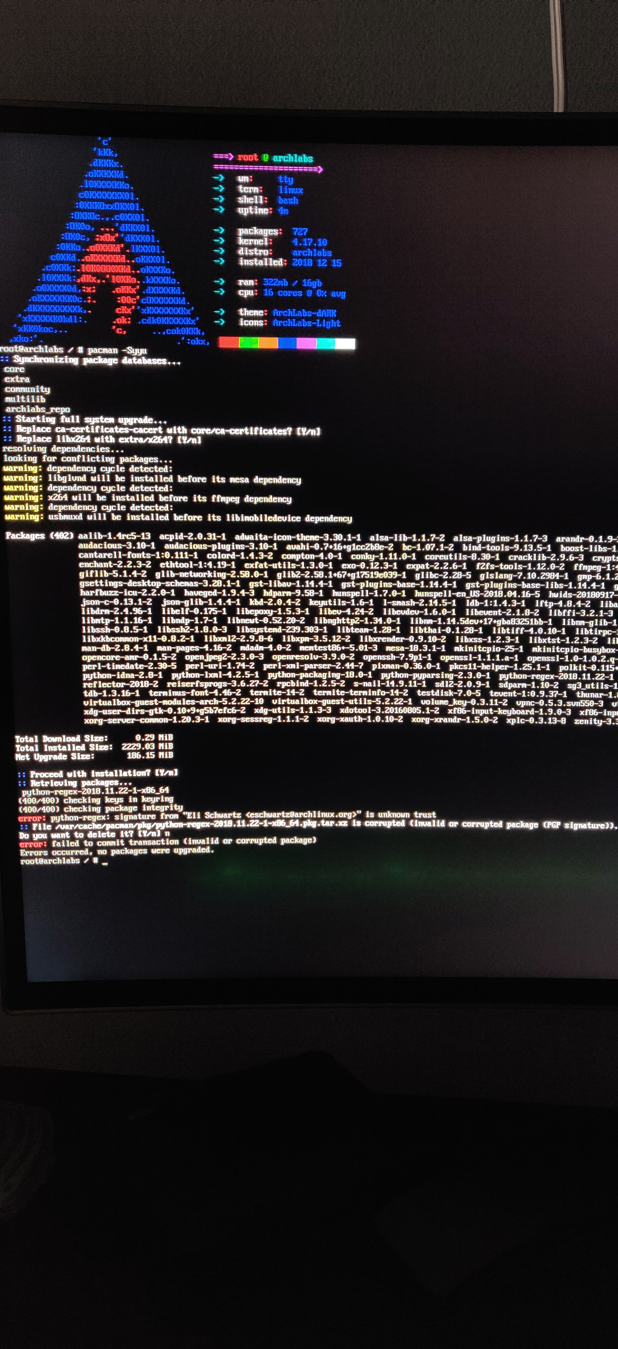 Doesn't boot after fresh install - Technical Issues & Assistance