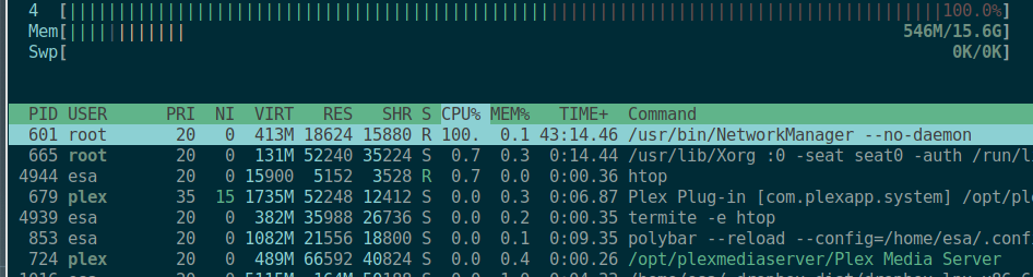 Network manager daemon high cpu usage [SOLVED] - Technical